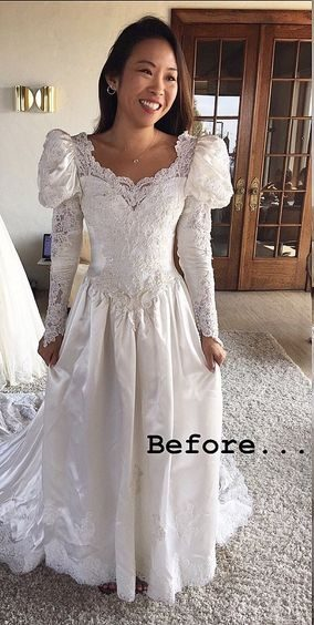 Vintage Wedding Dress Redesign